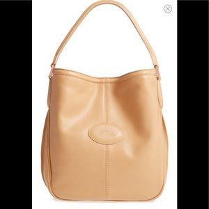 Longchamp leather mystery hobo bag